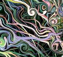 Kathie McCurdy Botanical Art Abstract Grass Swirls & Circles by Kathie McCurdy