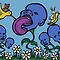 Teddy Bear And Bunny - Blueberry Flower Heads by Brett Gilbert