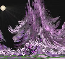 Moonlit Garden by aprilann