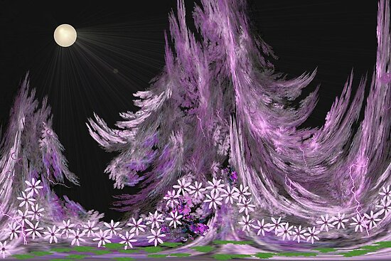 Moonlit Garden by aprilann