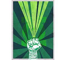 Green Lantern's light Photographic Print