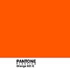 Pantone Plastica Orange 021 C iPhone case by Plastica Tees