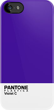 Pantone Plastica Violet C iPhone case by Plastica Tees