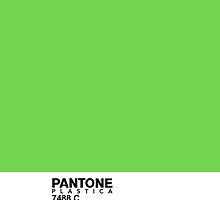 Pantone Plastica 7488 C iPhone case by Plastica Tees