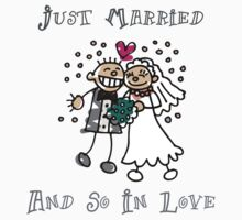"Wedding Day ""Just Married and So In Love"" by FamilyT-Shirts"
