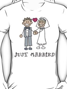 "Wedding Day ""Just Married"" T-Shirt"