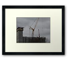 The Crane That Took Down The Twin Towers Framed Print