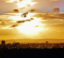 Autumn Sunrise Belfast  by Sean McAughey