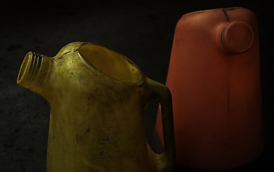 Two Oil Canisters  by Jessica Britton