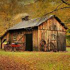 Autumn At Millbrook Village - The Blacksmith Shop by Pat Abbott