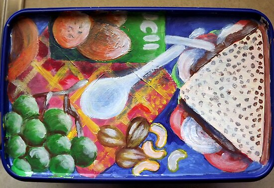 Hubby's Lunchbox (Lid) by Penny Hetherington