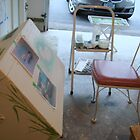 Furniture Painting Work Space by Cathy Amendola
