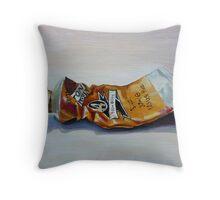 Oil on canvas ~ Yellow Ochre Throw Pillow