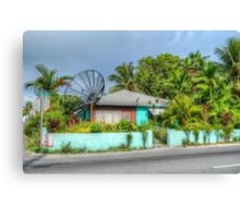 House on Mount Royal Avenue in Nassau, The Bahamas Canvas Print