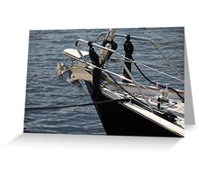 anchor on a sailing yacht Greeting Card