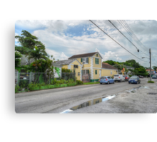 Mount Royal Avenue & Rosetta Street in Nassau, The Bahamas Canvas Print