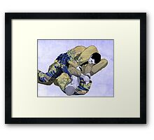 The Ground is my Ocean blue Framed Print