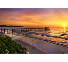 Scripps Pier Sunset Photographic Print
