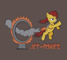Jet Ponies Flying Through Flaming Hoops by Karuik