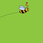 A Bee in Love by Jeffery Borchert