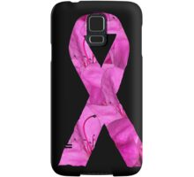 Pink Azalea Flowers Awareness Ribbon Samsung Galaxy Case/Skin