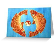 Yin And Yang Goldfish Greeting Card