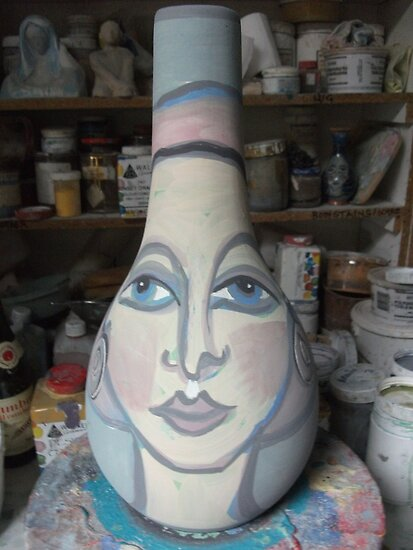 another unfired pot  by catherine walker