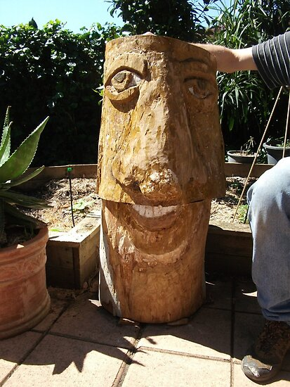 """"""" tree man"""" made from our fallen tree by catherine walker"""