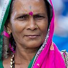 Woman With Pink Saree by Leslie  Hagen