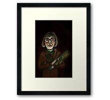 MY LOG SAW SOMETHING THAT NIGHT - from 'The Peaks' range Framed Print