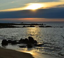 Landrellec sunset, Cote de granit rose, Brittany, France by 7horses
