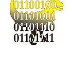 dino binary code t-rex design by Veera Pfaffli