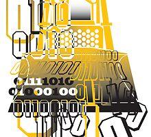 Bulldozer binary code machine design by Veera Pfaffli