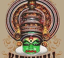 Kathakali Dancer Closeup by ramanandr