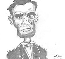 Abraham Lincoln by sketchingbrad
