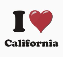 I Heart / Love California by HighDesign