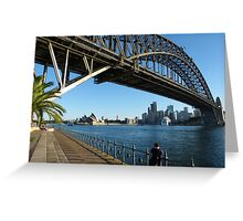 They're good at building bridges in Sydney Greeting Card