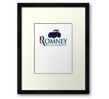 Harvesting Mitt Romney 2012 Framed Print