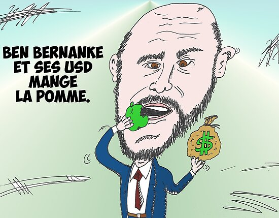 Chef du US Fed Ben BERNANKE en caricature by Binary-Options