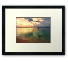 Golden lagoon Framed Print