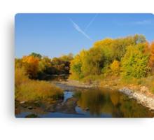 Autumn Colors Along Skunk Creek Canvas Print
