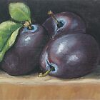Three Plums by karenhetzer