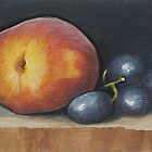 Peach and Grapes by karenhetzer