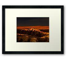 Sunset over Badlands National Park .5 Framed Print