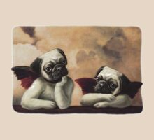 Twin Winged Pug Cherubs by MudgeStudios