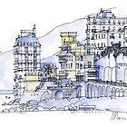 Palazzi sul Mare by Luca Massone  disegni