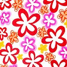 Doodle Flowers (iPhone / iPod Case) by Sammy Nuttall