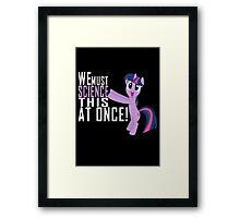 Science Poster Framed Print