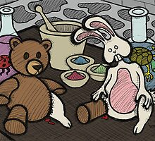 Teddy Bear And Bunny - Lab Experiments by Brett Gilbert