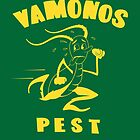 Vamonos Pest Truck One Colour Logo by Mark Walker